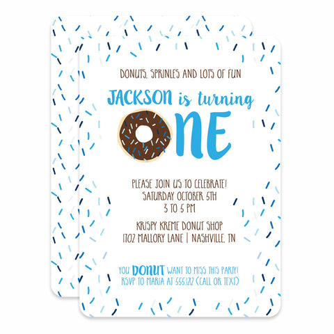 Donut Birthday (Blue)