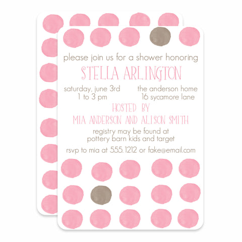 Watercolor Dots Baby Shower