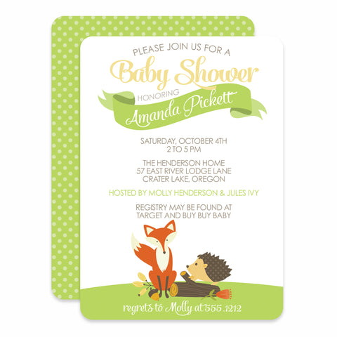 Woodland Creatures Baby Shower