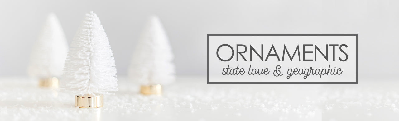 Christmas Ornament, State Love, Geographic, Travel, New Home, Vacation