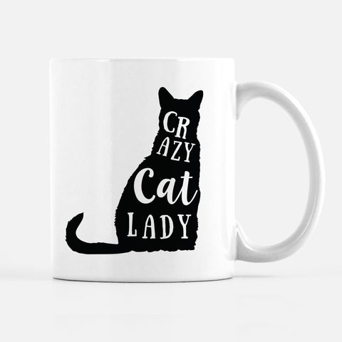 Crazy Cat Lady Mug | Funny Mug | Cat Lover |Pipsy.com