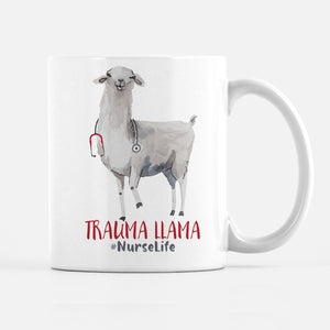 Trauma Llama Coffee Mug, Nurse, Doctor, ER, Surgeon gift | PIPSY.COM
