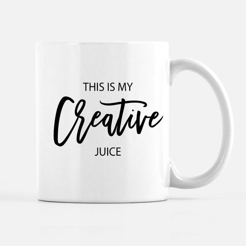 This is my creative juice mug, for artist, painter, maker, she-boss, PIPSY.COM