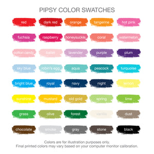 Pipsy Color Swatches