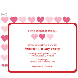Three Hearts Valentine's Day Invitation