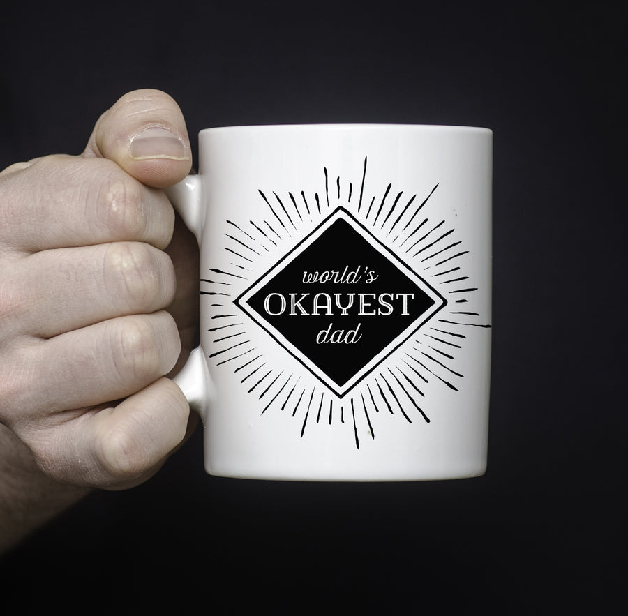 Worlds Okayest Dad Funny Coffee Mug, Pipsy.com