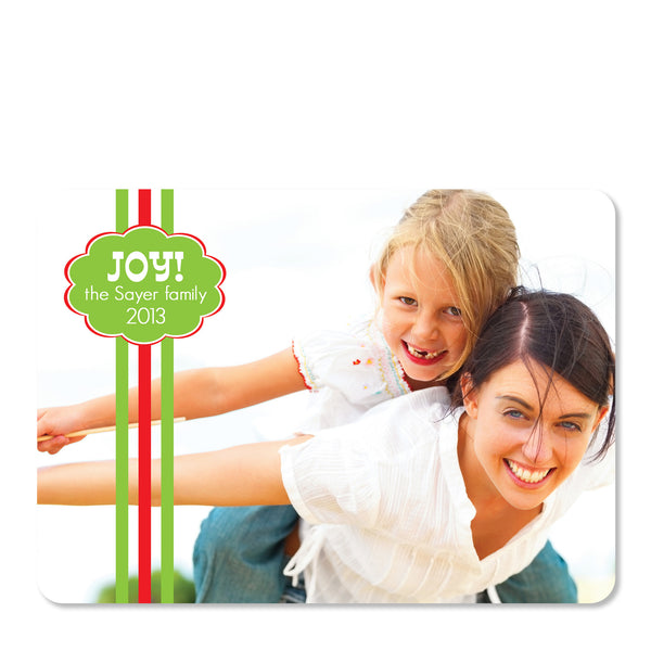 Bright Stripes Holiday Photo Card