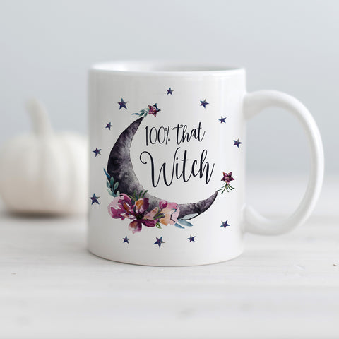 100% That witch moon and stars Halloween mug | PIPSY.COm
