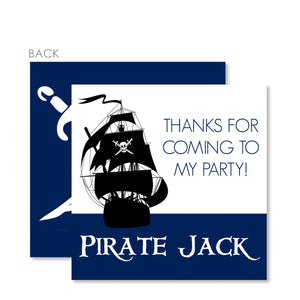 Pirate Ship Favor Tags