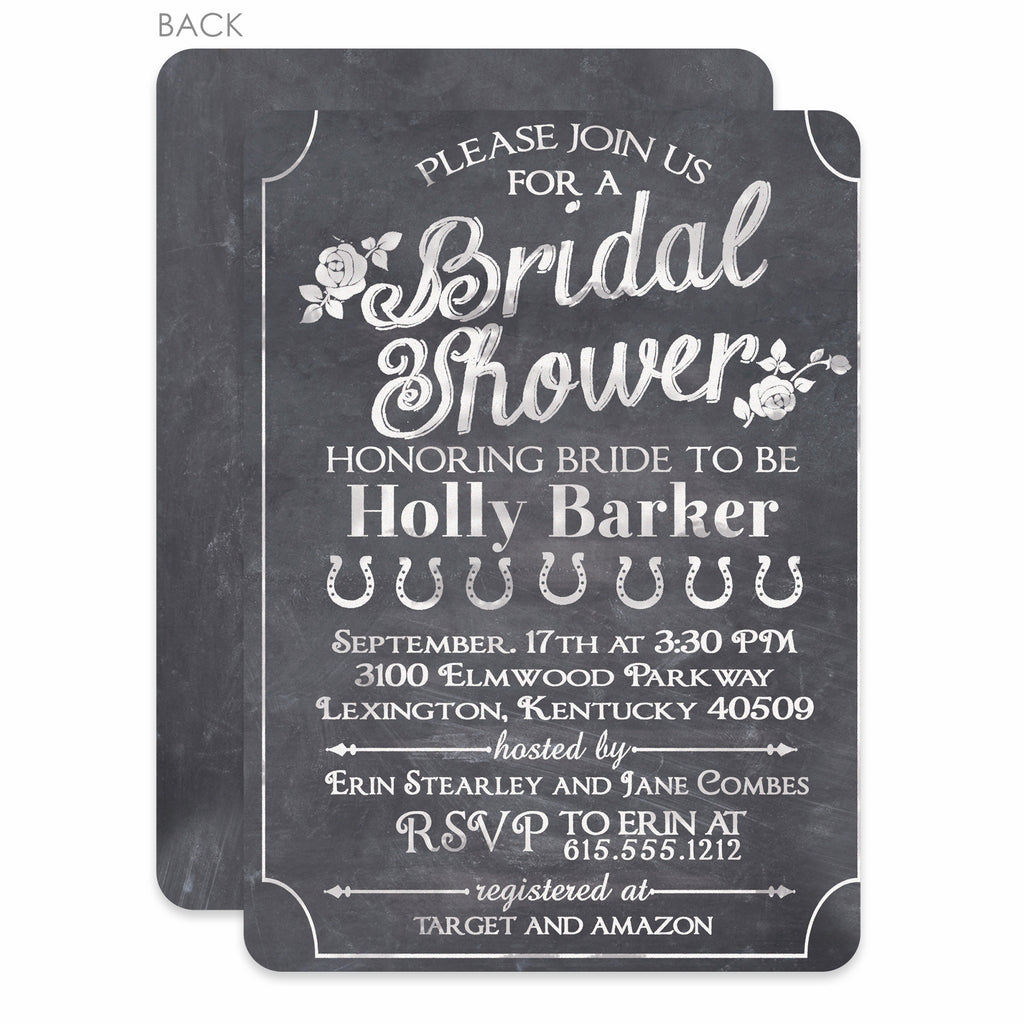 Chalkboard bridal shower invitation pipsy chalkboard bridal shower invitation filmwisefo