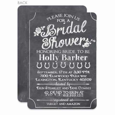 Chalkboard Bridal Shower Invitation