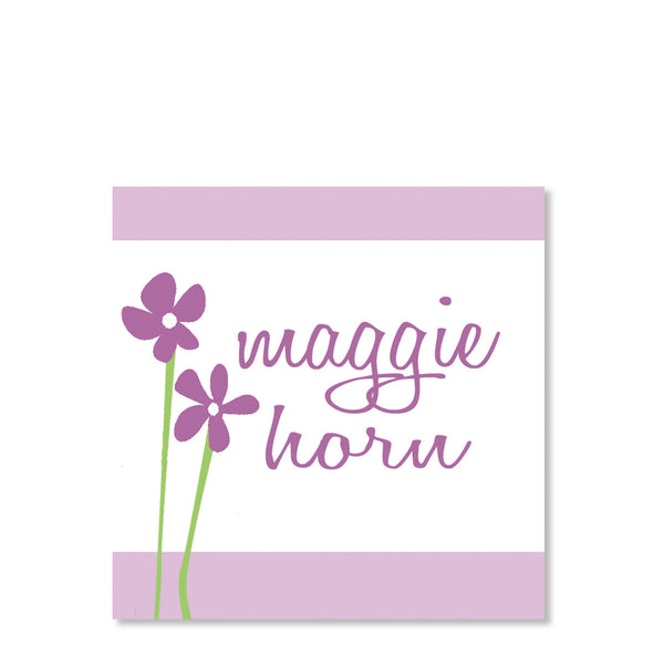 Sweet Flowers On Lavender Gift Tags