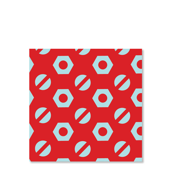 Tools Party Cardstock Favor Tags, Red (Printed)
