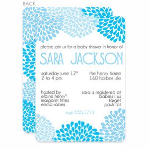 Chrysanthemum Baby Shower Invitation | Swanky Press