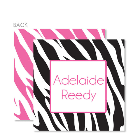 Zebra Pink Gift Tags