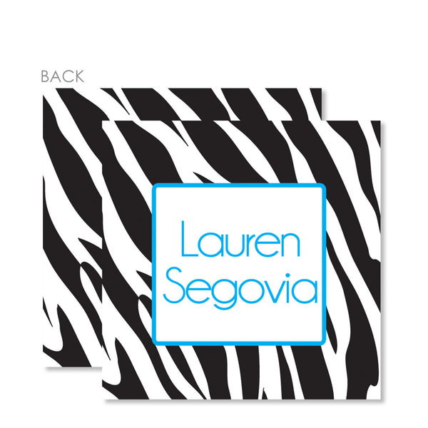 Zebra Blue Gift Tags