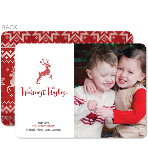 Christmas Sweater Holiday Photo Card