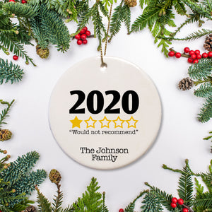 2020 year in Review - 1 star - personalized ornament | Pipsy.com