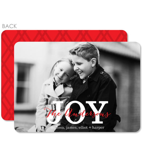 Classic Joy Holiday Photo Card