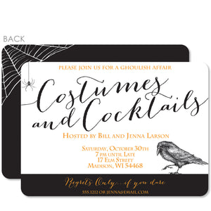 Costumes and Cocktails Halloween Party Invitation | PIPSY.COM