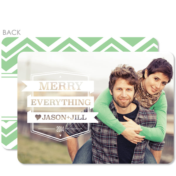 Cutout Holiday Photo Card
