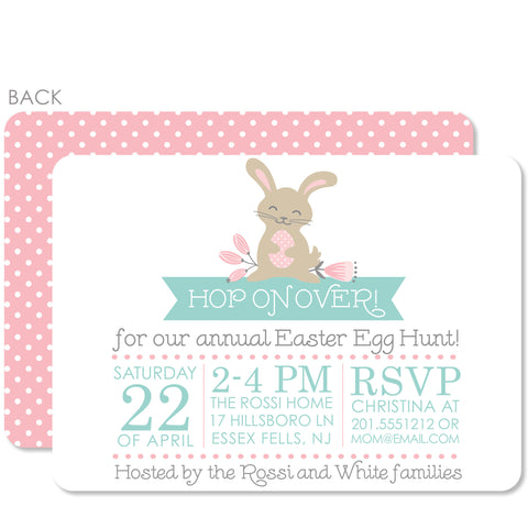 Dotty Bunny Invitation