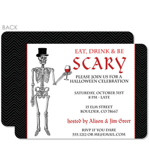 Eat Drink and Be Scary Halloween Invitation | Pipsy.com