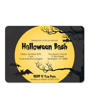 Full Moon Halloween Invitation (Printed)