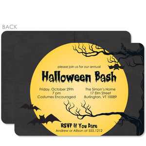 Full Moon Halloween Invitation | PIPSY.COM