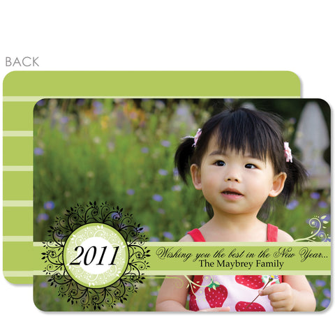 Garden Vine Holiday Photo Card