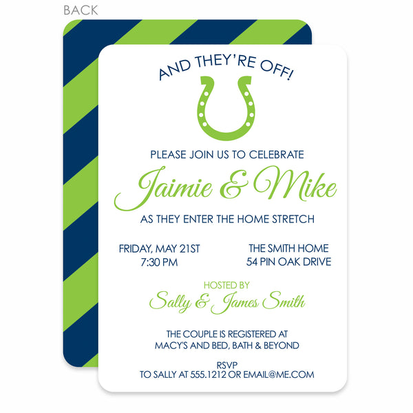 And They're Off! Couples Bridal Shower Invitation