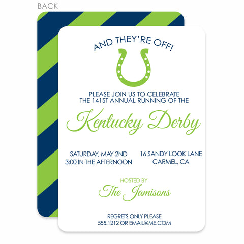 Horseshoe Kentucky Derby Invitations