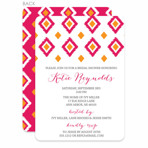 Ikat Bridal Shower Invitation