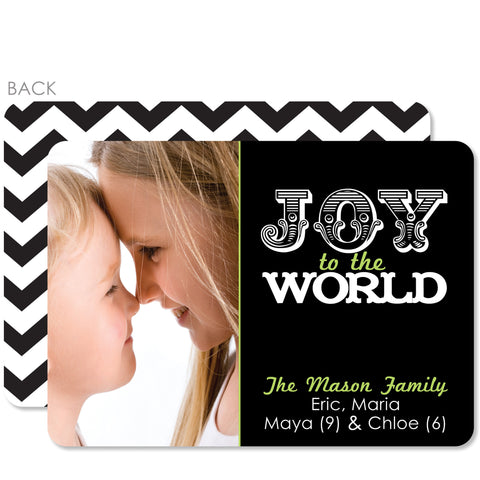Joy To The World Holiday Photo Card