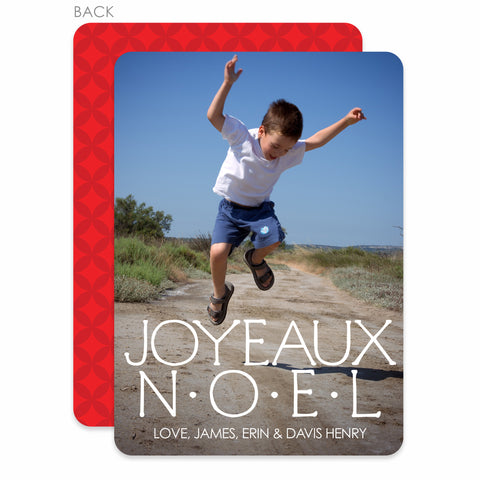 Joyeaux Noel Holiday Photo Card