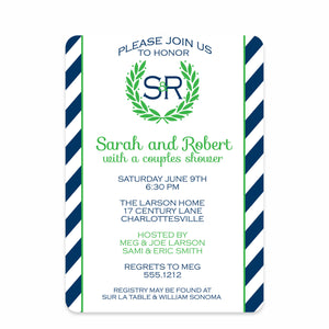 Laurel Couples Bridal Shower Invitation