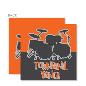 Drums Gift Tags