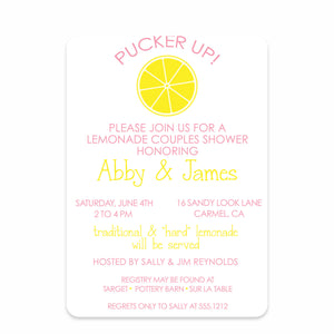 Lemonade Stand Couples Bridal Shower Invitation