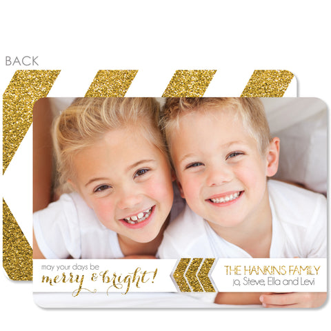 Merry & Bright Glitter Holiday Photo Card