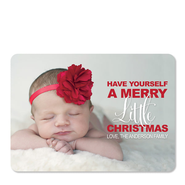 Merry Little Christmas Holiday Photo Card