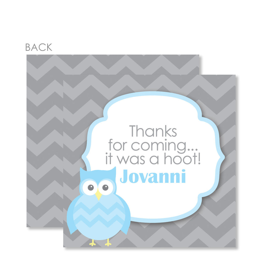 Blue Elephant Gift Tags