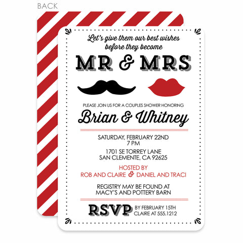 Mr & Mrs Party Invitation