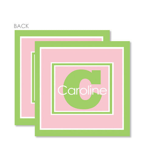 Frames Of Pink And Green Gift Tags