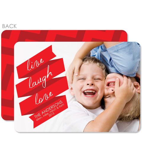 Live Laugh Love Holiday Photo Card