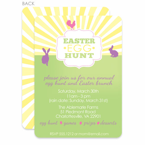 Retro Egg Hunt Invitation