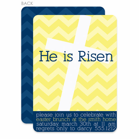 He Is Risen Easter Invitation