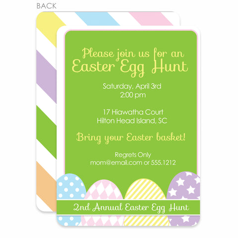 Row Of Eggs Invitation