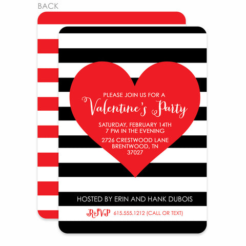 Bold Heart Valentine's Day Invitation