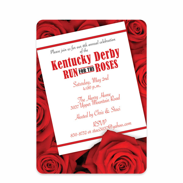 Rose Kentucky Derby Invitations