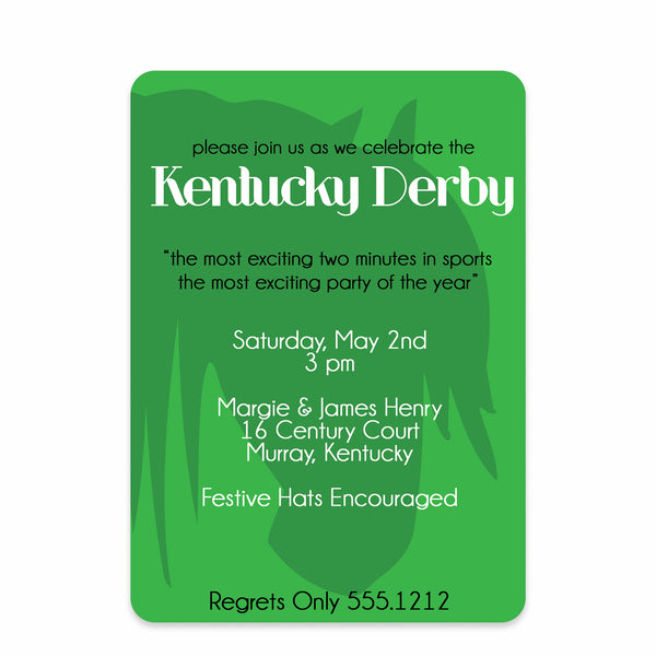 Silhouette Kentucky Derby Invitations